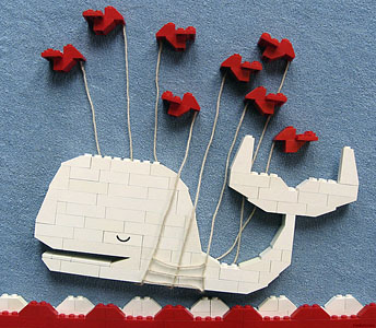 Flickr user tveskov (@tveskov) cleverly recreated the Fail Whale using LEGOs